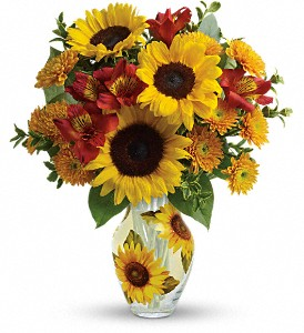 Teleflora's Simply Sunny Bouquet in Jefferson WI, Wine & Roses, Inc.