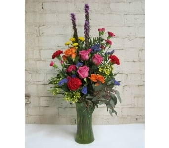 Colors of Spring Bouquet in Moorhead MN, Country Greenery