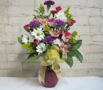 Spring Celebration Bouquet in Moorhead MN, Country Greenery