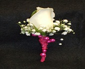 White Rose with Bling in Tuscaloosa AL, Stephanie's Flowers, Inc.