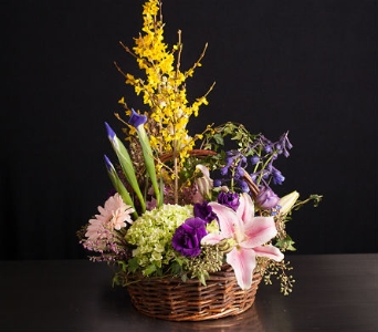 Spring Basket in La Jolla CA, Adelaide's Florists and Decorators