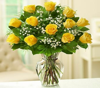 Rose Elegance - Dozen Premium Longstem Yellow Rose in El Cajon CA, Conroy's