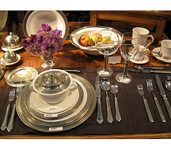 Pewter and Ceramic Tableware in Blue Bell PA, Country Flower Shoppe