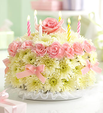 BIRTHDAY FLOWER CAKE PINK in Vienna VA, Vienna Florist & Gifts