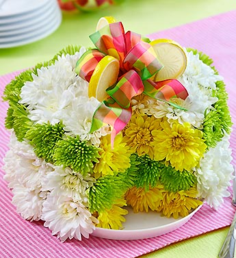 LEMON FLOWER CAKE in Vienna VA, Vienna Florist & Gifts