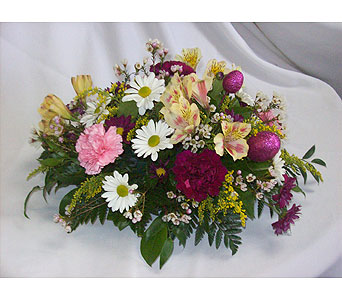 Spring Centerpiece Arrangement in Ellicott City MD, The Flower Basket, Ltd