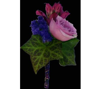 Purple Boutonniere in Norristown PA, Plaza Flowers