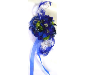 Blue Corsage in Norristown PA, Plaza Flowers