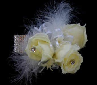 White Corsage in Norristown PA, Plaza Flowers
