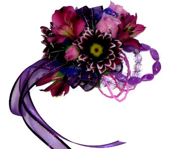 Purple Corsage in Norristown PA, Plaza Flowers