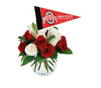 OSU Rose Bowl Bouqet in Columbus OH, OSUFLOWERS .COM