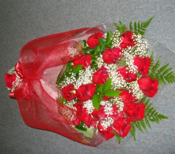 18 Red Roses Cello Wrapped in Surrey BC, Brides N' Blossoms Florists