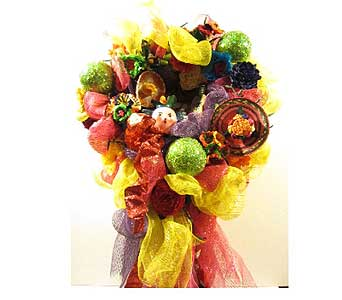 Sombrero Lady Fiesta Wreath in San Antonio TX, Allen's Flowers & Gifts