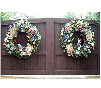 Fiesta Double Gate Wreaths in San Antonio TX, Allen's Flowers & Gifts