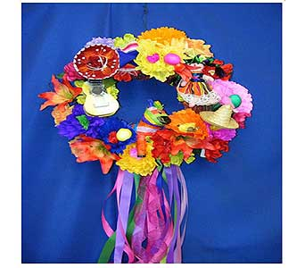 Fiesta Paper Floral Wreath in San Antonio TX, Allen's Flowers & Gifts