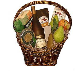 Allen''s Executive Wine and Fruit Basket in San Antonio TX, Allen's Flowers & Gifts