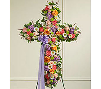 Cross in Whittier CA, Ginza Florist