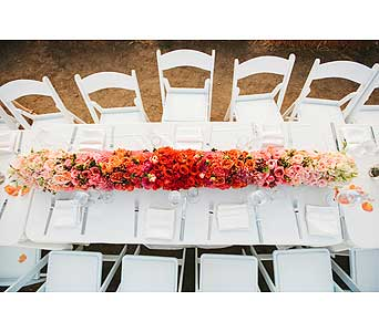 Ombre Wedding  in Bellevue WA, CITY FLOWERS, INC.