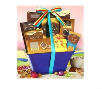 Godiva Birthday Celebration Basket in Bayside NY, Bell Bay Florist