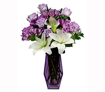 Teleflora Lavender Beauty T13M200$79.95 in Towson MD, Radebaugh Florist and Greenhouses
