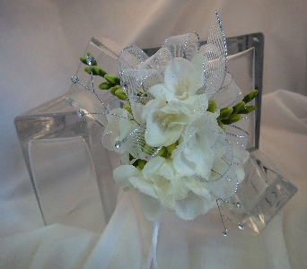 White Orchid with glitter in Greenville SC, Expressions Unlimited