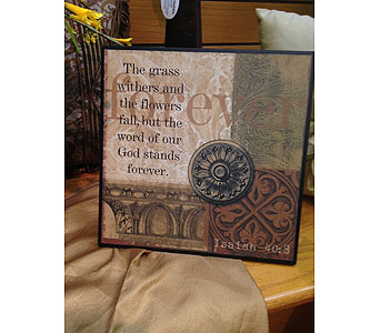 Isaiah 40:8 Wall Hanging in New Castle PA, Butz Flowers & Gifts