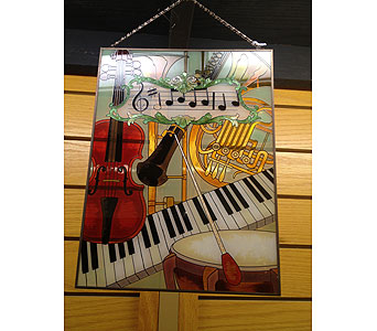 Musical Instruments Stained Glass in New Castle PA, Butz Flowers & Gifts
