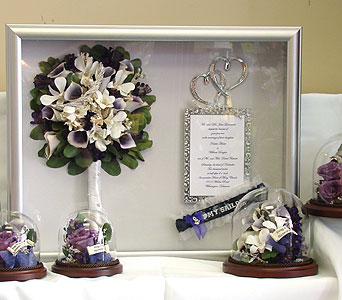 Bridal shadow box & parent keepsakes in Middletown DE, Forget Me Not Florist & Flower Preservation