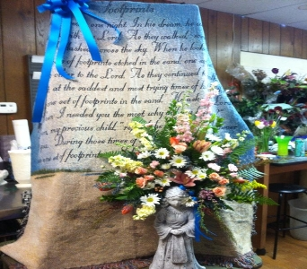 Throw and Angel Arrangement  in Milford OH, Jay's Florist
