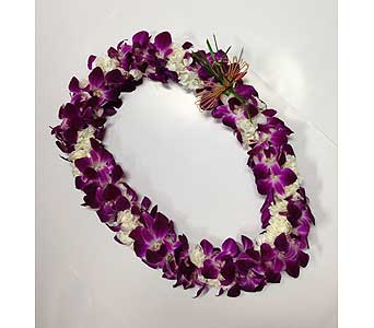 Double Bombay Orchid w/ Mini Carnation Lei in Carlsbad CA, Ohana Creations