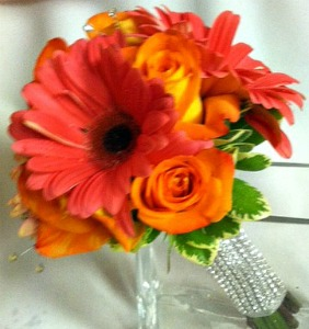 Orange & Coral Bouquet  in Lemont IL, Always with Flowers