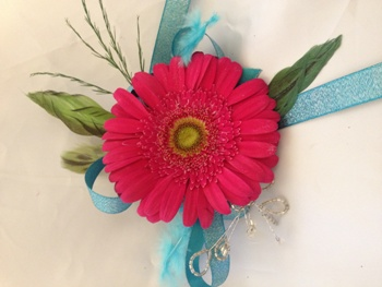 Gerber Daisy Corsage in Henderson NV, A Country Rose Florist, LLC