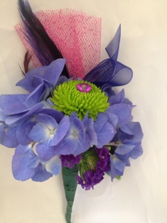 Hydrangea & Button Boutonniere in Henderson NV, A Country Rose Florist, LLC