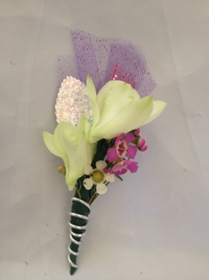 Dendrobium Orchid Boutonniere in Henderson NV, A Country Rose Florist, LLC