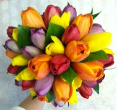 Mix Tulip Bouquet  in Lemont IL, Always with Flowers