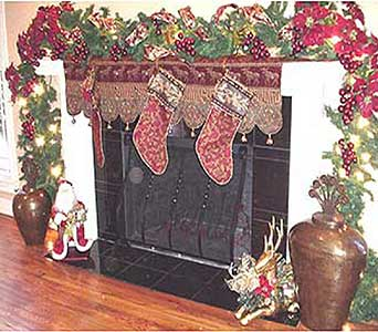Fireplace Mantle in San Antonio TX, Allen's Flowers & Gifts