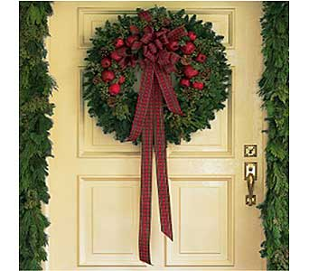 Fresh Wreath with Apples in San Antonio TX, Allen's Flowers & Gifts