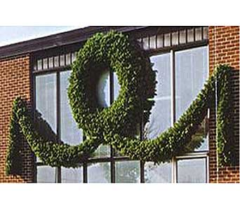 Giant Commercial Wreath in San Antonio TX, Allen's Flowers & Gifts
