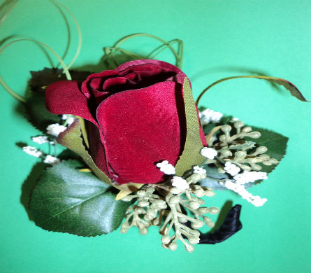 Traditional Rose Boutonniere  in Hagerstown MD, Chas. A. Gibney Florist & Greenhouse