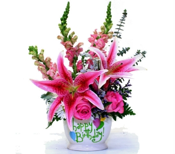Birthday Lilies Bouquet in Birmingham AL, Norton's Florist