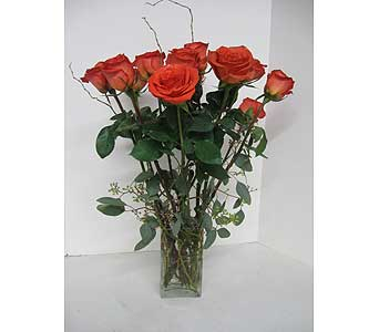 Artistic Deluxe Dozen Roses in Geneva NY, Don's Own Flower Shop