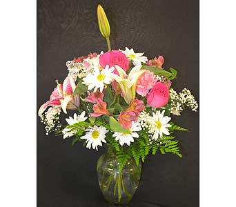 Pink Fantasy Vase Deluxe PFVD in Port St Lucie FL, Flowers By Susan