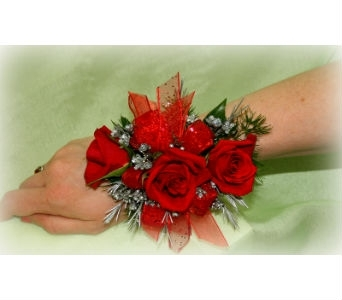 Royal Red Wristlet in Asheville NC, Kaylynne's Briar Patch Florist, LLC