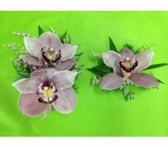 Mauve Cymbidium Boutonni�re in Oakland CA, J. Miller Flowers and Gifts