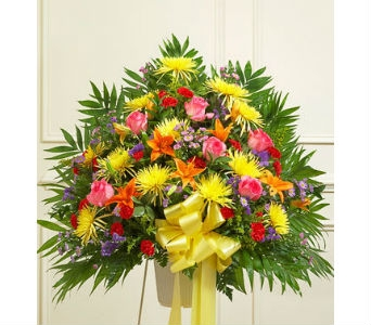 Heartfelt Sympathies Standing Basket - Bright in Whittier CA, Ginza Florist