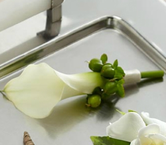 Miniature Calla Lily Boutonnie in Fairfield CT, Town and Country Florist