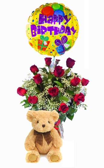 Simple Bear Necessities W/Balloon in Clarks Summit PA, McCarthy Flower Shop of Scranton