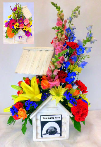 In the Doghouse  in Raleigh NC, Fallons Creative Flowers