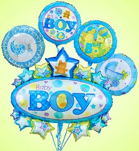 Baby Boy Marquee Bundle  in Lemont IL, Royal Petal