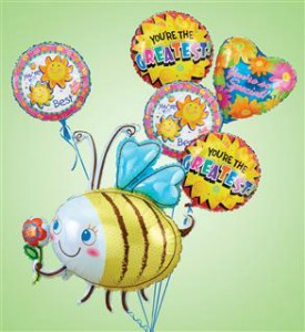 Bumble Bee Balloon Bouquet  in Lemont IL, Royal Petals